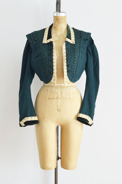 Green Cropped Jacket - Pickled Vintage