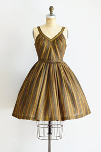 50s Chevron Dress - Pickled Vintage