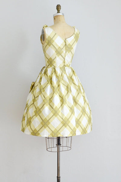 Windowpane Dress - Pickled Vintage