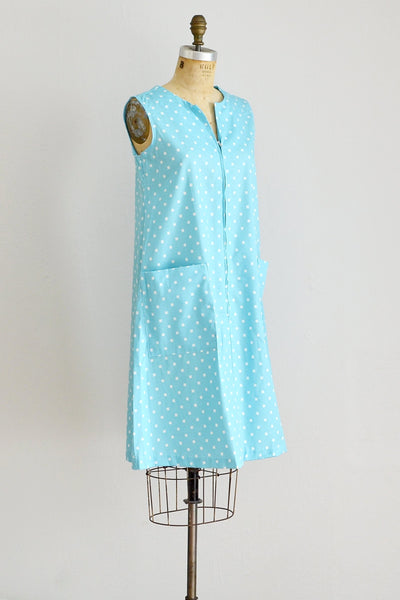 50s Blue House Dress - Pickled Vintage