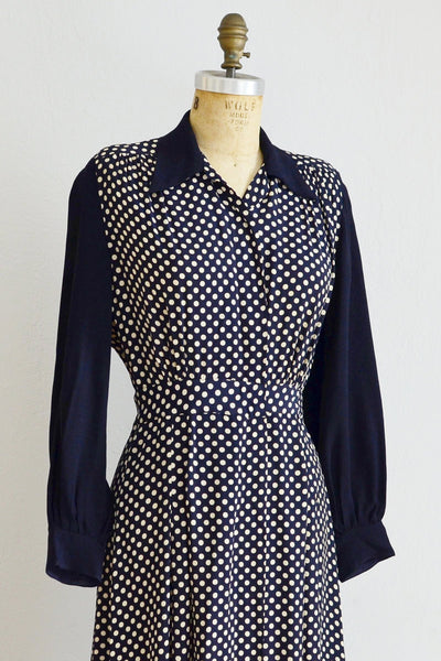 1940s Polka Dot Dress - Pickled Vintage
