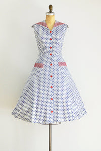 50s Printed Dress - Pickled Vintage
