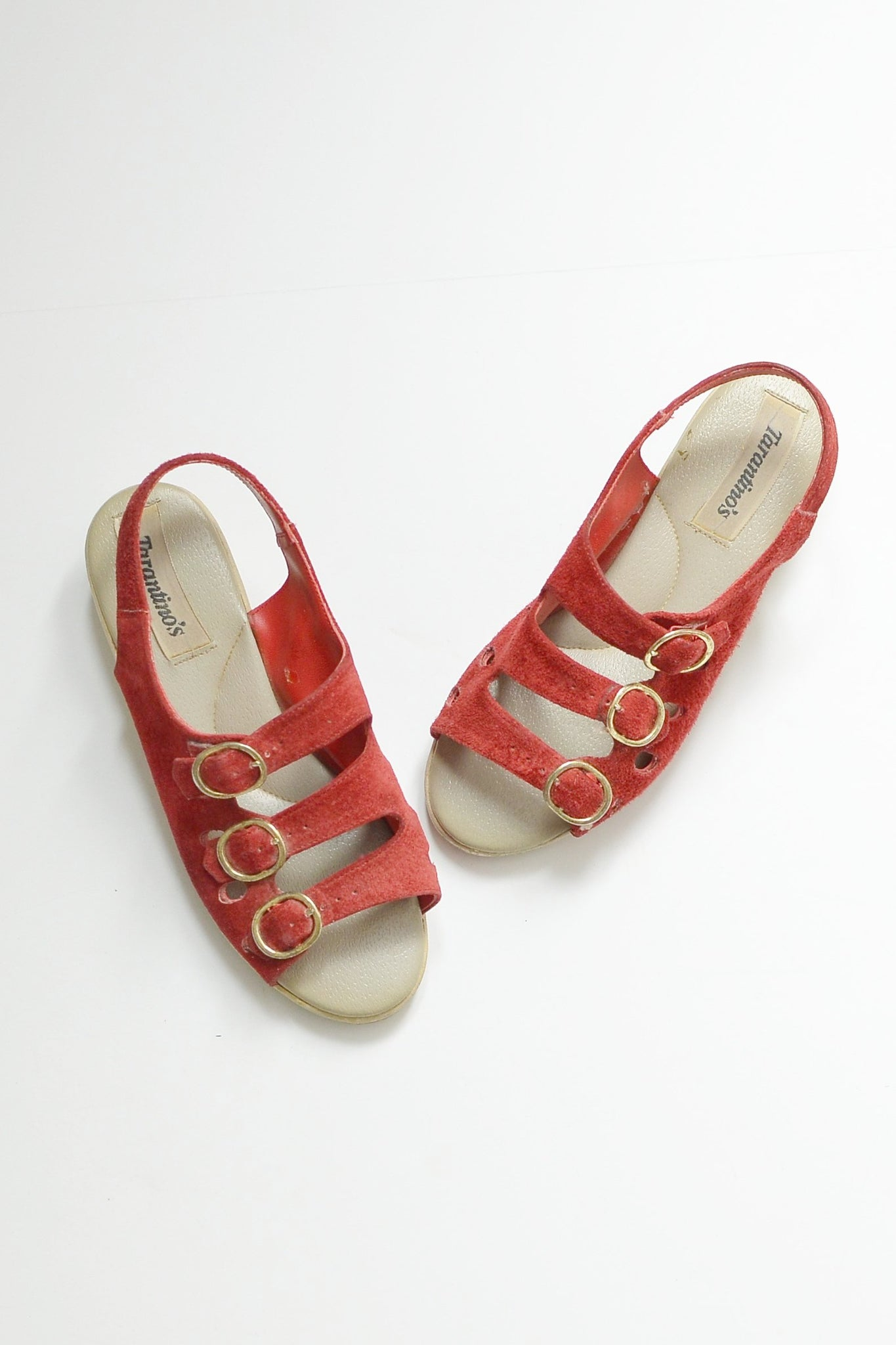 70s Suede Sandals - Pickled Vintage