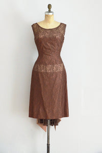 50s Illusion Lace Party Dress - Pickled Vintage