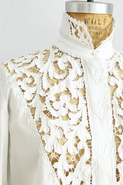 Antique French Lace Top - Pickled Vintage