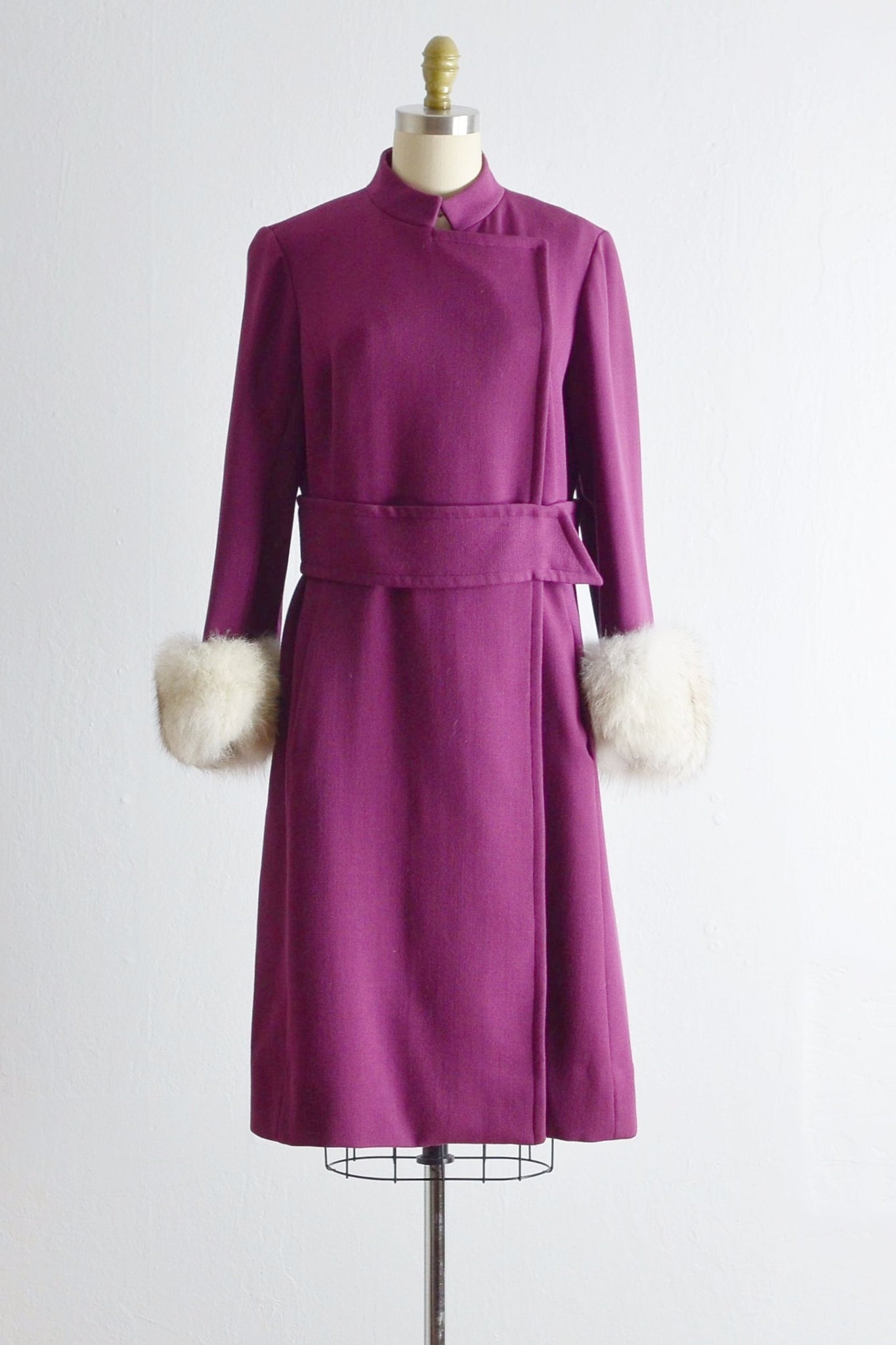 Vintage 1960s Plum Dress Coat - Pickled Vintage