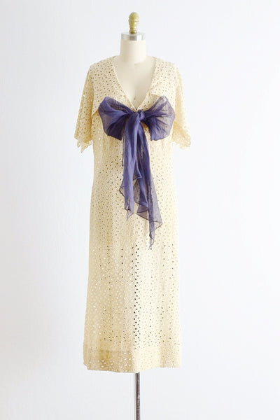 Vintage 1920s Eyelet Lace Dress - Pickled Vintage