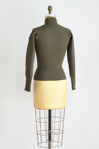 40s Battle Wool Sweater - Pickled Vintage