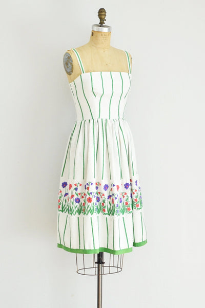 Victor Costa Striped Sundress - Pickled Vintage