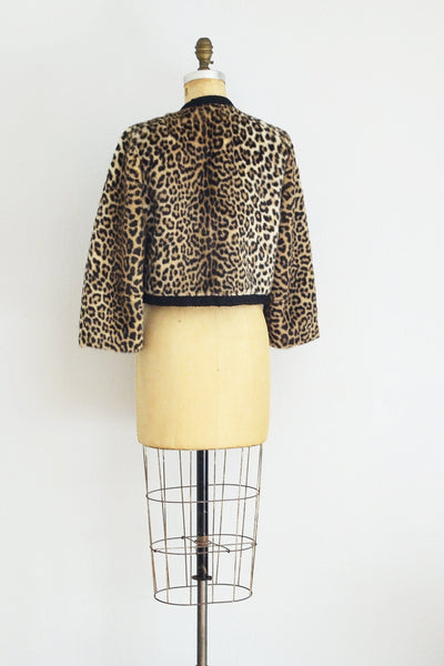 Leopard Cropped Jacket - Pickled Vintage