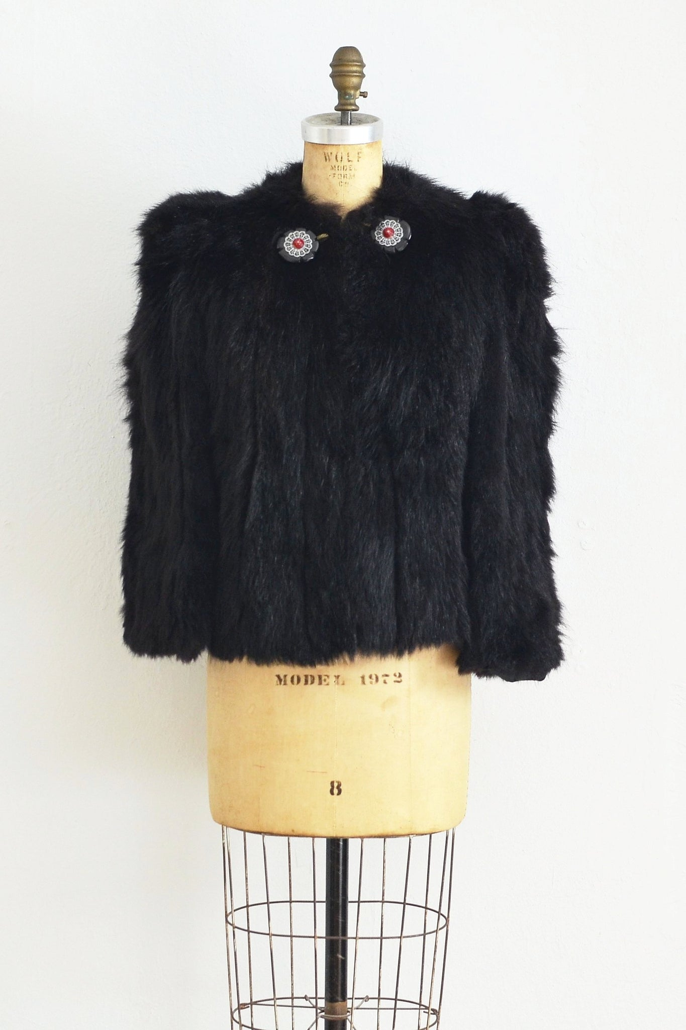 30s Cropped Fur Jacket - Pickled Vintage