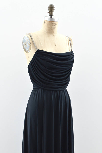 70s Grecian Draped Dress - Pickled Vintage