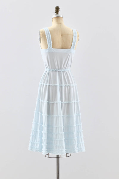 1950s Ruffled Nightgown - Pickled Vintage