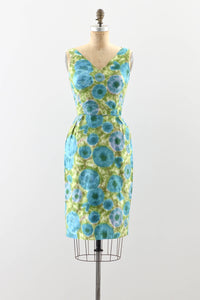 1950s Cotton Wiggle Dress - Pickled Vintage