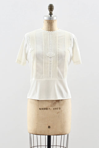 Campus Queen Blouse - Pickled Vintage