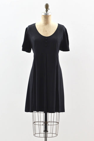 90s Short Black Dress - Pickled Vintage