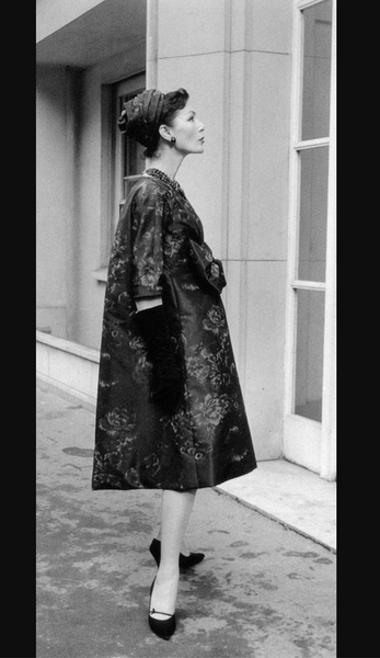 1958 YSL For Christian Dior Trapeze Coat / Numbered Christian Dior