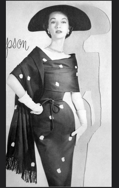 1950s Adele Simpson Silk Wiggle Dress