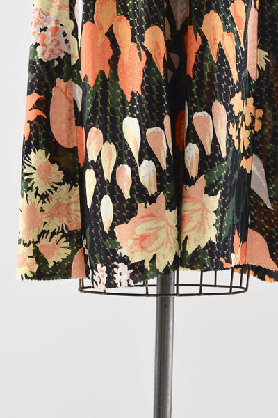 Sale / 1970s Lurex Floral Dress - Pickled Vintage
