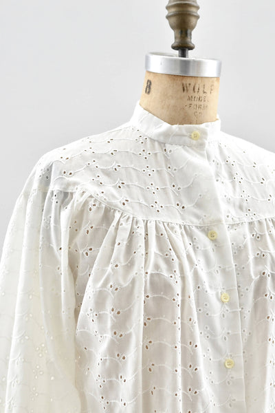 Vintage 1970s Eyelet Shirt - Pickled Vintage