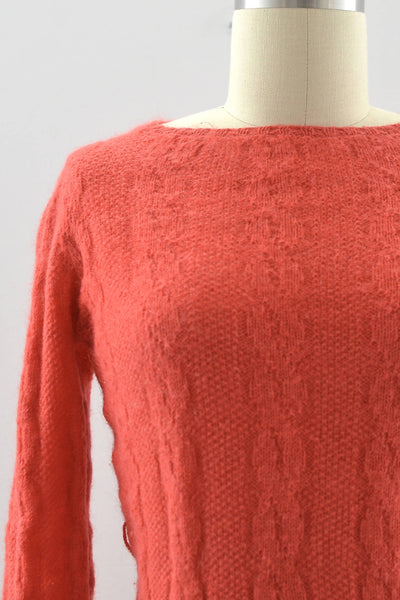 1940s Coral Knit Set - Pickled Vintage