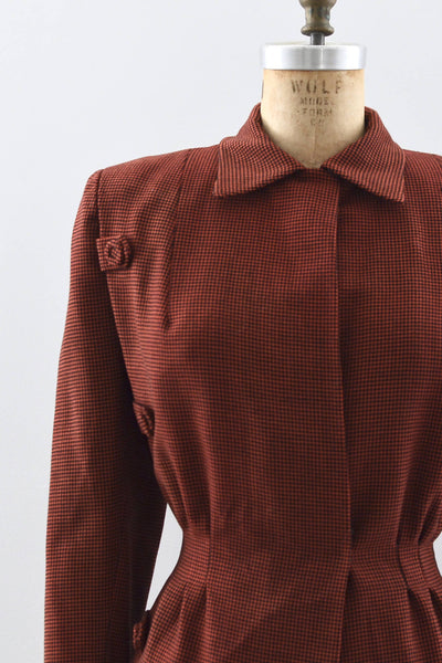 1940s Houndstooth Jacket