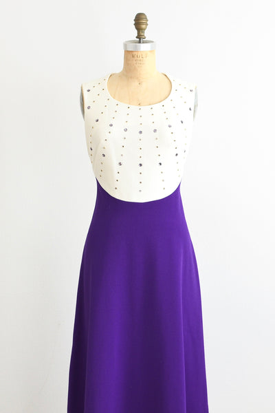 70s Studded dress - Pickled Vintage