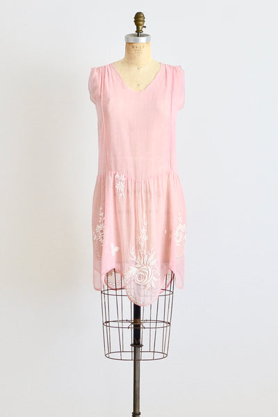 20s Pink Dress - Pickled Vintage