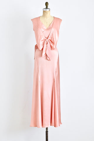 1930s Bubblegum Bias Cut Dress - Pickled Vintage