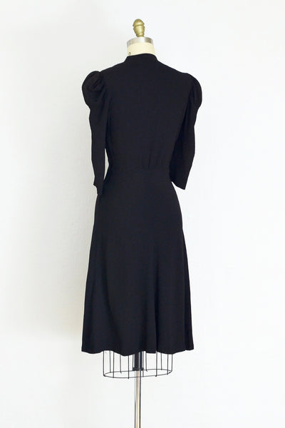 1940s Puff Sleeve Dress - Pickled Vintage