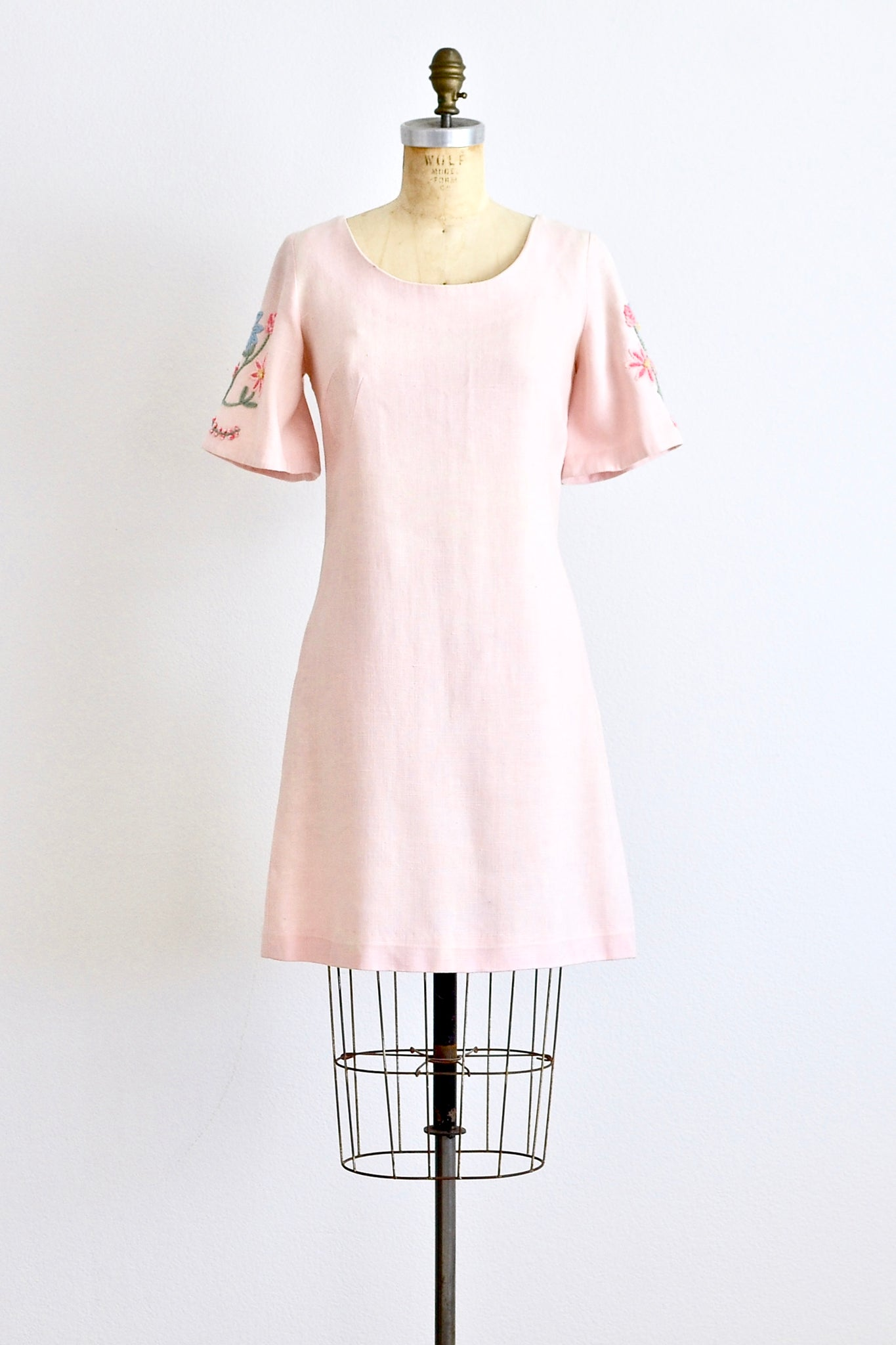 60s Embroidered Shift Dress - Pickled Vintage