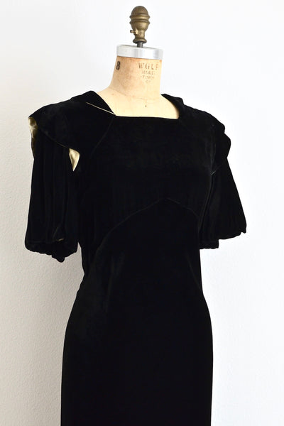 1930s Puff Sleeve Dress - Pickled Vintage