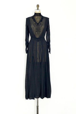 1900s Graceful Stance Dress - Pickled Vintage