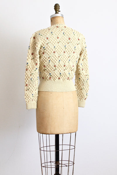 New! - Rare 40s Folkloric Cardigan - Pickled Vintage