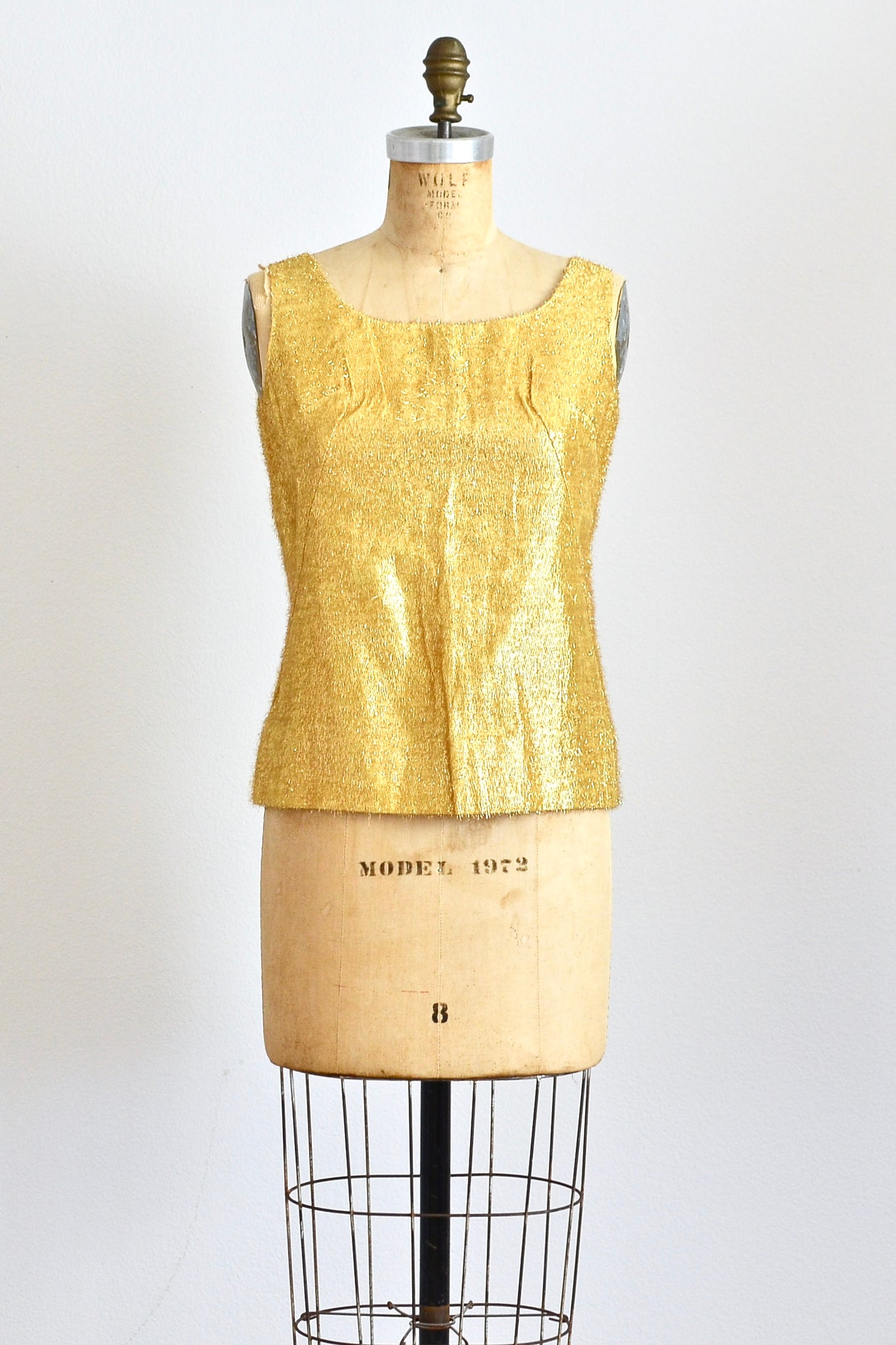 Gold Tinsel Top - Pickled Vintage