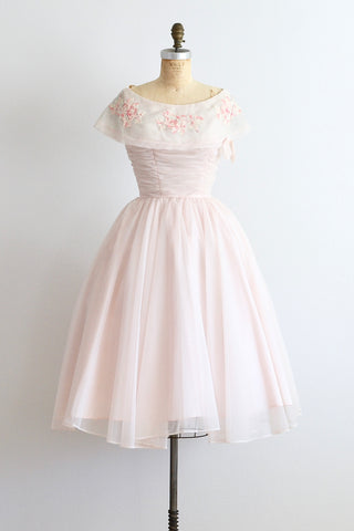 1950s Blush Pink Cupcake Dress - Pickled Vintage