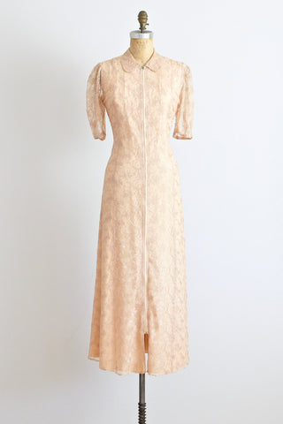1940s Lace Dressing Gown - Pickled Vintage