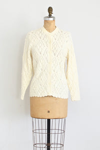 Pointelle Cardigan - Pickled Vintage