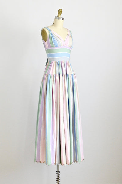 Grecian Pastel Dress - Pickled Vintage