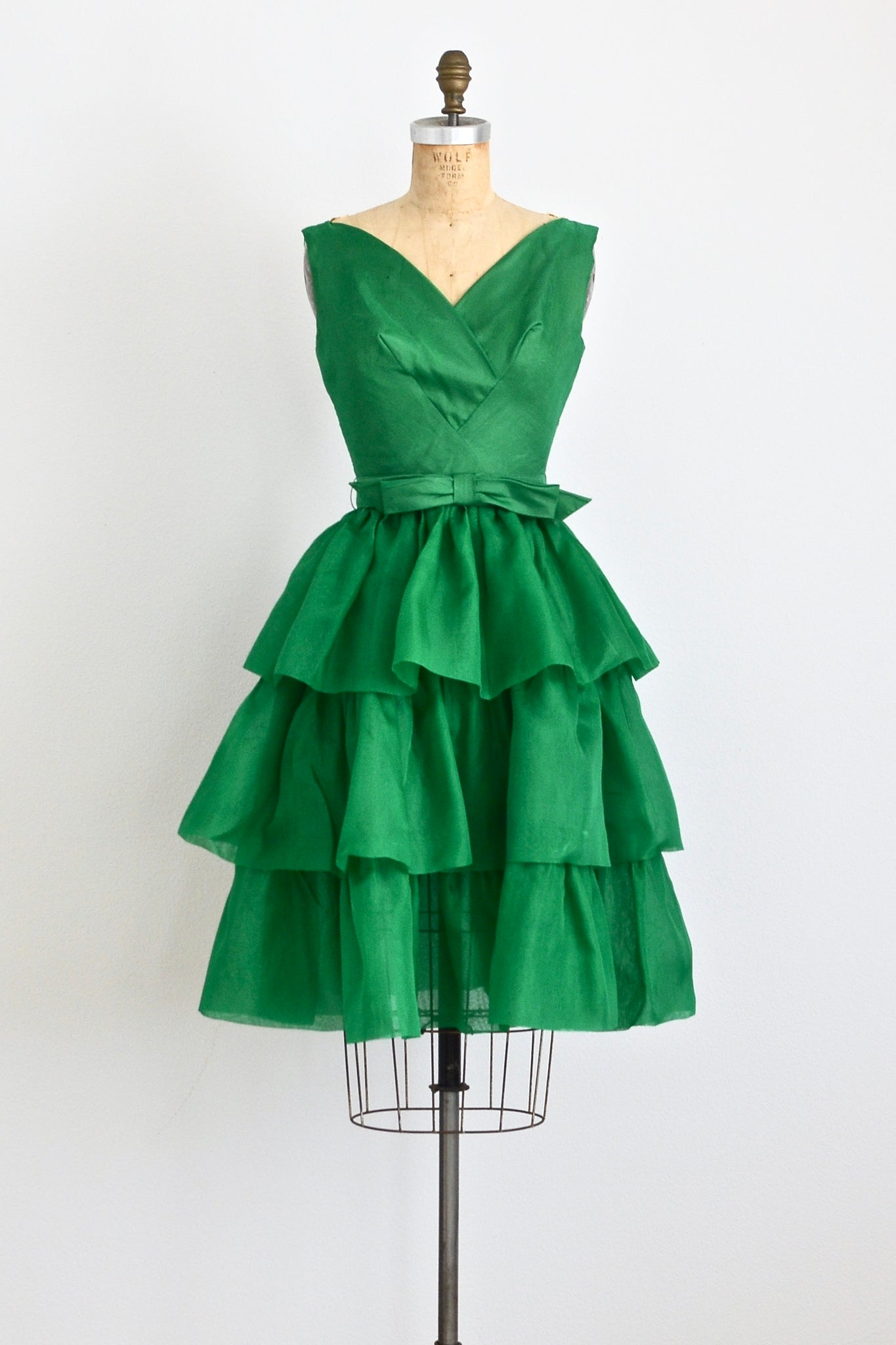 Green Chiffon Dress