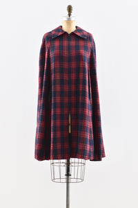 1950s Plaid Cape - Pickled Vintage