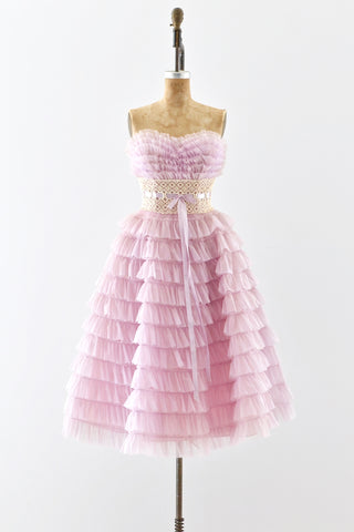 1950s Strapless Party Dress - Pickled Vintage