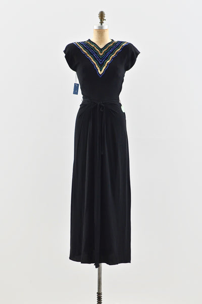 1940s Long Gown - Pickled Vintage
