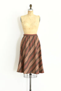 1970s Striped Skirt - Pickled Vintage