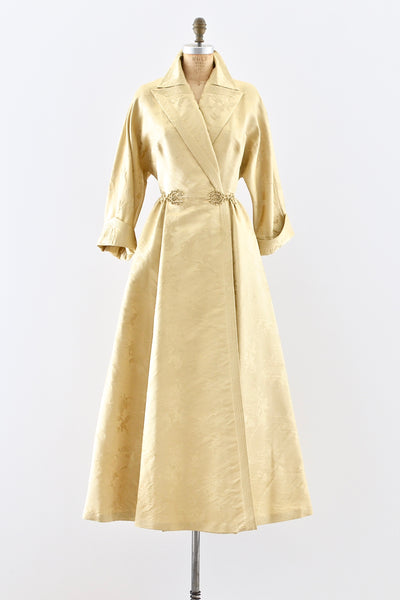 1940s Gold Hostess Gown - Pickled Vintage