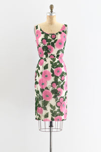 1950s Fully Beaded Wiggle Dress - Pickled Vintage
