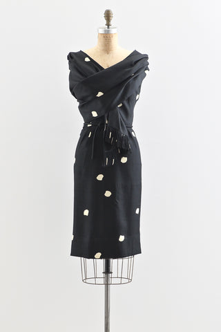 1950s Adele Simpson Silk Wiggle Dress - Pickled Vintage