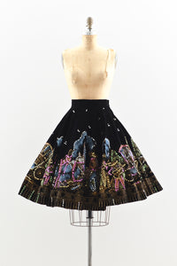 1950s Hand Painted Skirt - Pickled Vintage