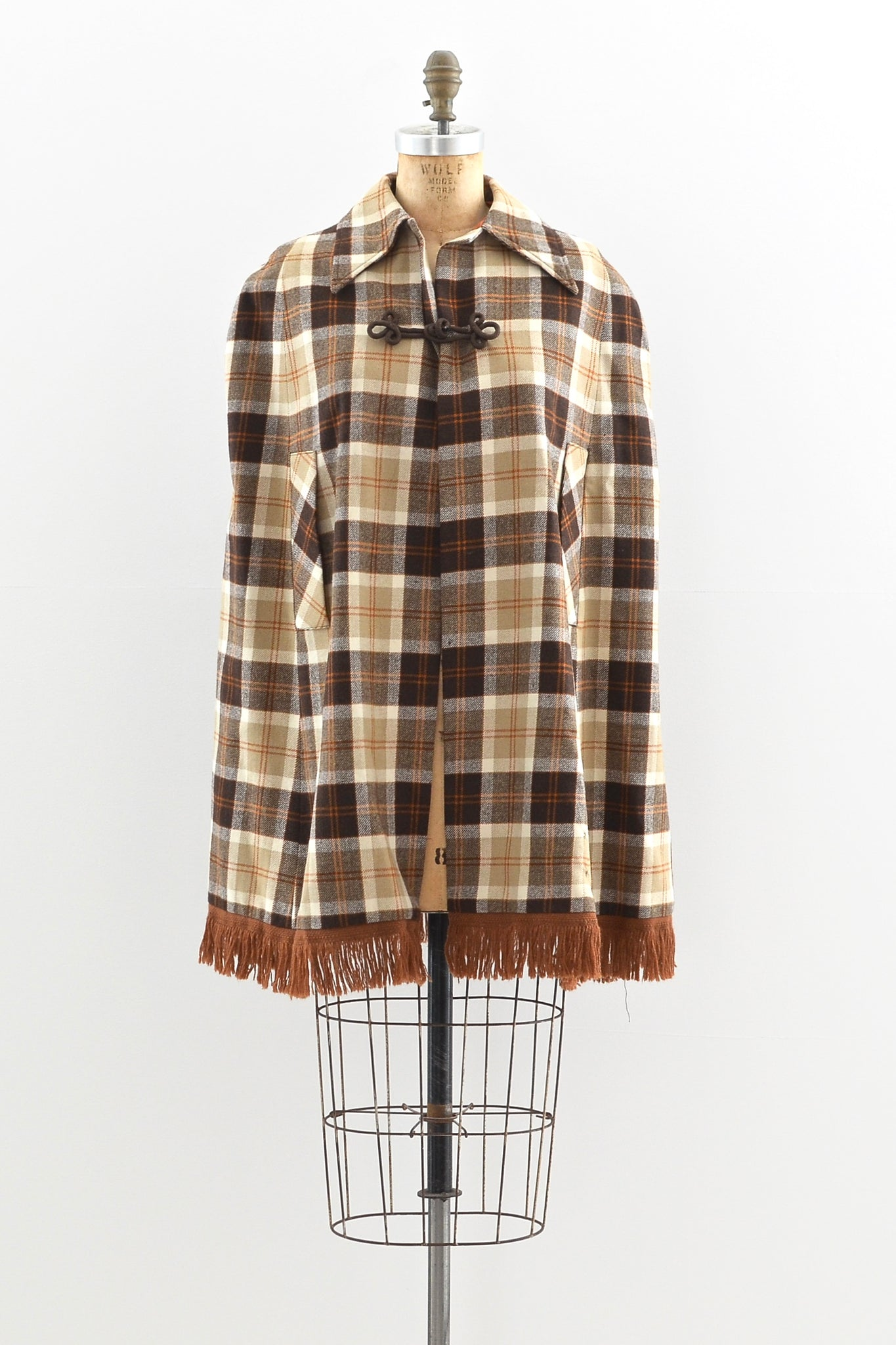 Fringed Cape - Pickled Vintage