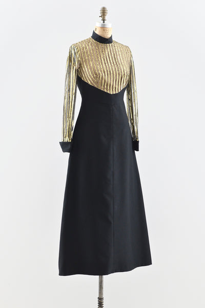 1960s Tux Party Dress - Pickled Vintage